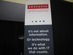 EDUCAUSE sign