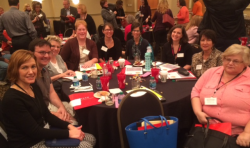 Photo of numerous HACC Libraries staff members at ACLCP's Fall Conference 2015