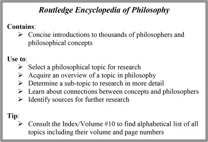 Routledge Encyclopedia of Philosophy